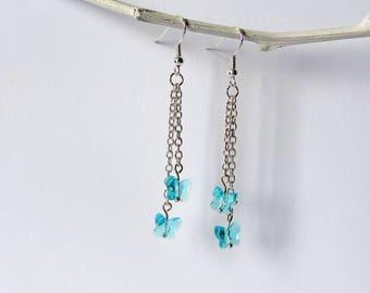 Butterfly swarovski earrings, earring dangle, great gift idea