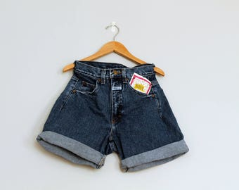 Vintage 90s high waisted denim shorts