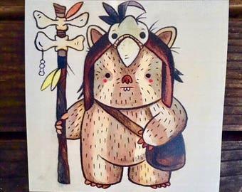 Logray Ewok Print