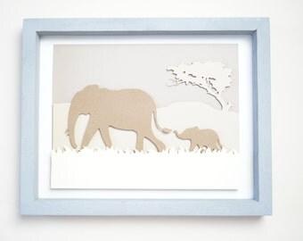 "Animal Paper Art 14""x 11""x 1.5"""