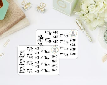 EXPLICIT // Functional Planner Stickers // Word Planner Stickers // Script