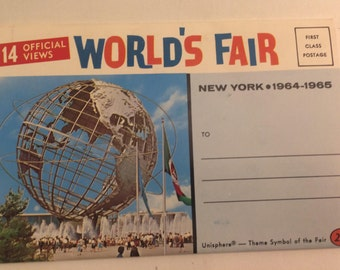 Nice 1964 Worlds Fair Souvenir Photo Booklet  - unopened excellent condition