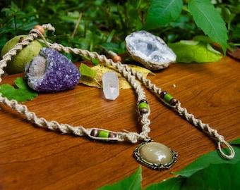 Hemp Necklace/Bracelet with Pendant