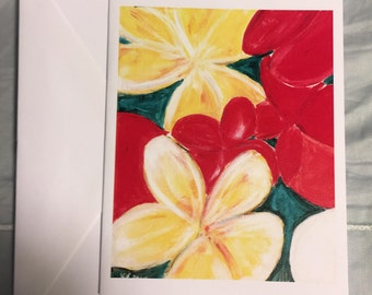 Note Card Hibiscus