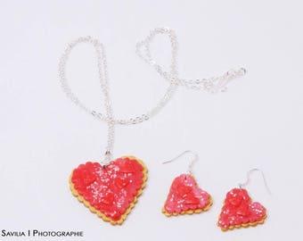 Butter heart earrings