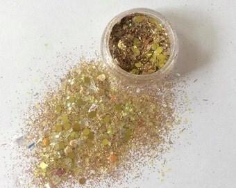Golden Gem Face Glitter
