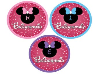 Minnie Mouse Inspired Bridesmaid Button - Bachelorette Party Button - Minnie Pin - Wedding Party Button - Bridal Buttons - Personalized Pin