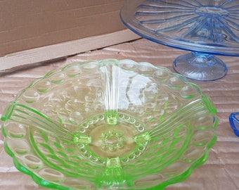 Pressed glass bowl, fourties original
