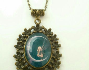 """Necklace cabochon """"Fairy of the Moon"""""""