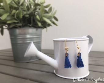 Earrings blue starred