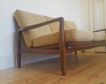 Mid Century Vintage Retro  Teak/Afrormosia Sofa Daybed Toothill
