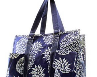 Pineapple Nurse Utility Tote Bag - FREE MONOGRAM!