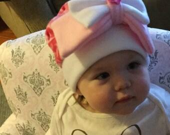 Child's fleece bow hat