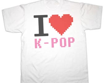 I Heart (LOVE) K-POP Childrens T Shirt