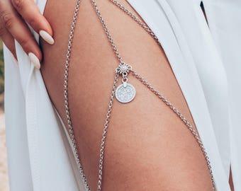 Coin Detail Thigh Chain