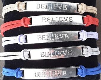 """""""BELIEVE"""" bracelet"""