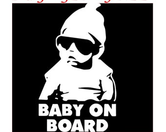 BABY ON BOARD Vinyl Decals/Stickers for Car Macbook iPhone iPad