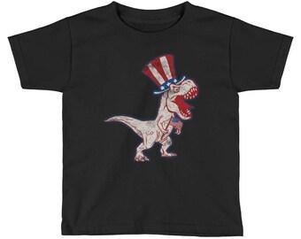 Patriotic Dinosaur Kid's T-Rex T-Shirt