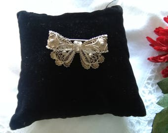 Antique brooch, antique brooch, vintage brooch, vintage brooch bow, filigree brooch, antique filigree brooch, antique