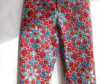 Kids pants in fabric African wax for boy or girl