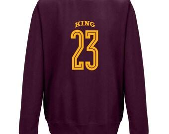 LEBRON James King 23 number Basketball Legend Cleveland Cavaliers U BUM ohio NBA allstars