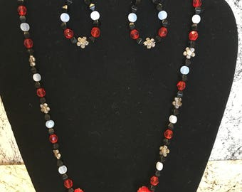 Berry Red Necklace Set