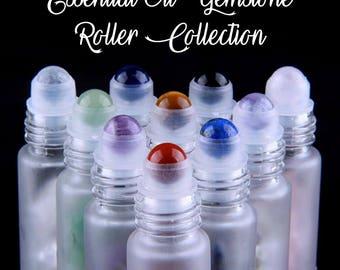 Gemstone Essential Oil Roller Bottles, Roller Bottle, Essential Oil Crystal Roller, Gemstone Roller Ball, Rollerballs, Young Living, Doterra
