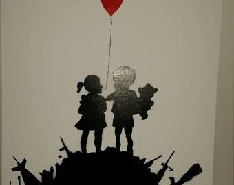 Banksy style artwork