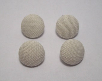 6-21mm off white fabric covered buttons