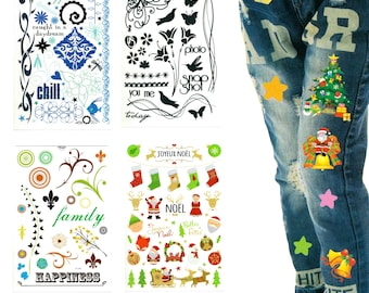 Scratch-Tattoos for textiles, wood, glass, porcelain, jeans etc. -Rub-on tattoos