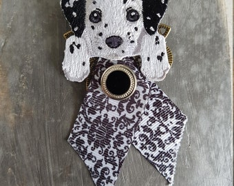 Brooch Dalmatian dog