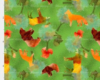 Watercolor Wildlife seamless digital image - fabric - scrapbook paper - 300 DPI - High Resolution