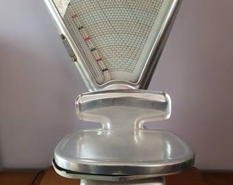 Mark grocery scale Bizerba dated 1961 in stainless steel
