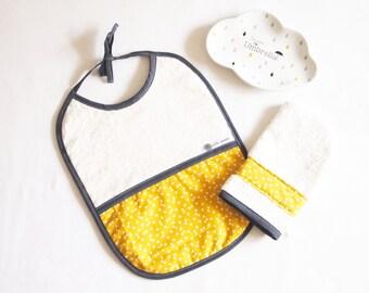 Bib 0-36 months + washcloth, birthday gift