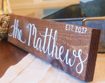 Last name sign | Custom name sign | | Family name | Wedding signs | Wedding gifts | Home decor | Wood signs | Wooden signs | Rustic decor
