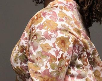 Lovely orange printed scarf/floral pattern/ladies scarves/écharpes