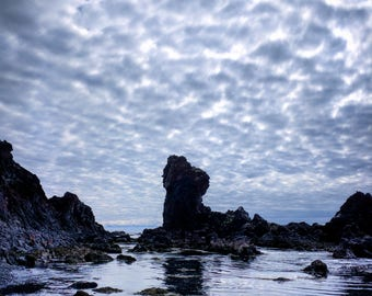 Metallic Print - Iceland beach