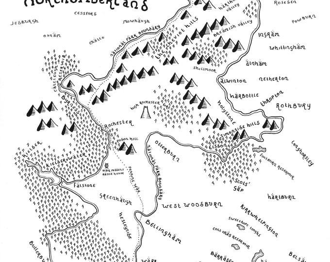 Northumberland National Park - Giclée Print