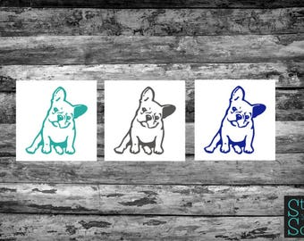 French Bulldog decal, french bulldog sticker, bulldog decal, bulldog sticker