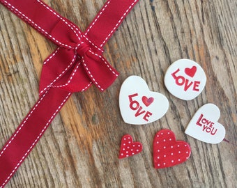 Valentine Assortment Clay Pieces (5x Pack)