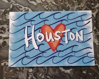 Hurricane Harvey Houston Note Card