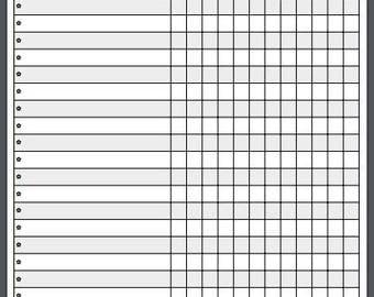 Monthly Tasks Checklist Planner ClipBoard A4 - 2018