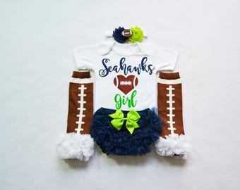 seattle seahawks baby girl outfit - baby girl seahawks outfit - girls seahawks football outfit - seahawks baby gift - seahawks football baby