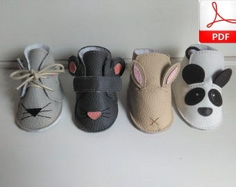 Baby Shoes Pattern - Baby Shoes Sewing Pattern to Make this Cute Baby Shoes, Pattern Baby Booties