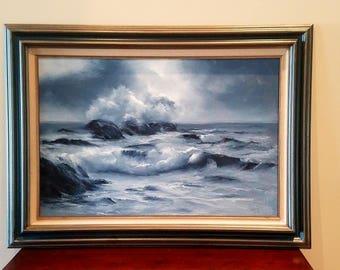 The Tumultuous Sea - Ocean Painting