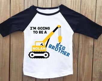 big brother announcement shirt, construction shirt, big brother shirt, going to be a big brother, announcement shirt, pregnancy announcement