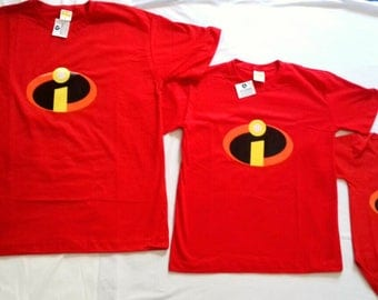 T-Shirt-The Incredibles Family with masks