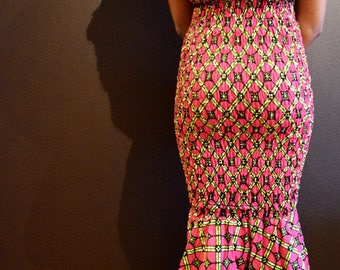 Kingsmaker Fitted Maxi Dress (Pink)