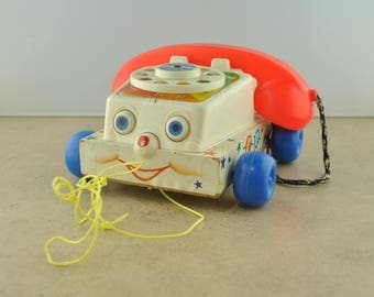 Fisher Price Toys Chatter Telephone 747 1961