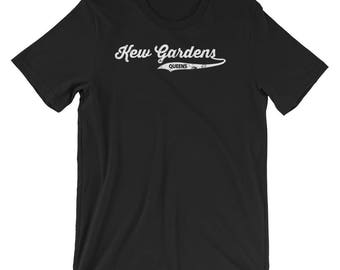 Kew Gardens Queens T-shirt : Retro Queens Vintage NYC Tee  Short-Sleeve Unisex T-Shirt